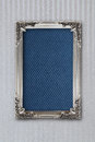 Silver picture frame on background with effects gray Royalty Free Stock Images