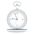 Silver pocket watch Royalty Free Stock Photo