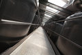 Silver process tanks in modern plant industrial interior Stock Images