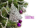 Silver And Purple Christmas Or...