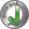 Silver Quality seal Stock Photography