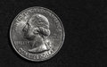 Silver Quarter Dollar Royalty Free Stock Photo