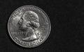 Silver Quarter Dollar Royalty Free Stock Photo