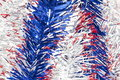 Silver Red and Blue ribbons Royalty Free Stock Image