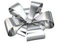 Silver ribbon decoration, 3D Royalty Free Stock Images