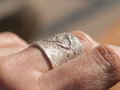 Silver Ring on Hand Royalty Free Stock Photo
