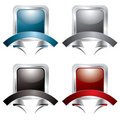 Silver rivet banner Stock Photography