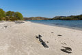 Silver Sands of Morar beautiful Scotland UK sandy beaches on the coastline from Arisaig to Morar a Scottish tourist destination Royalty Free Stock Photo