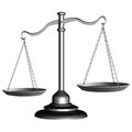 Silver scale of justice Royalty Free Stock Photo
