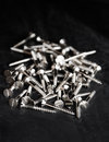 Silver Screws Royalty Free Stock Photo