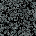Silver seamless floral swirls Royalty Free Stock Photo