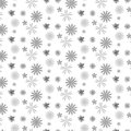 Silver shade flower scattered pattern background
