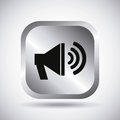 Silver speaker button design Royalty Free Stock Photo