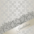 Silver special occasion invitation card Royalty Free Stock Photo