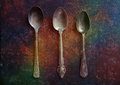 Silver spoons Royalty Free Stock Photo
