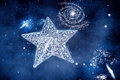 Silver star with space background ornament Royalty Free Stock Photos