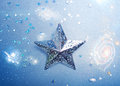 Silver star with space background ornament Royalty Free Stock Photography