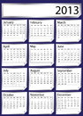 Silver sticker calendar 2013 Stock Image