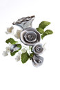 Silver Sugar Paste Bouquet Royalty Free Stock Photo