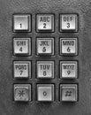 Silver telephone key pad Royalty Free Stock Photo