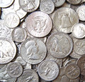 Silver USA Coins Royalty Free Stock Image