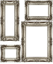 Silver Vintage Frames Royalty Free Stock Photo