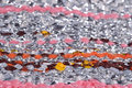 Silver weaving close up Royalty Free Stock Photo