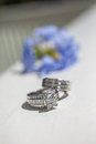 Silver Wedding Rings Royalty Free Stock Photo
