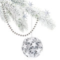 Silver-white Xmas decorations Stock Photography