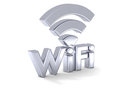 Silver WiFi sign Stock Photo