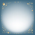 Silver winter abstract background. Christmas background with golden stars and place for text. Vector. Royalty Free Stock Photo