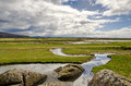 Silverdale coastline in cumbria scenic view of the england Stock Photo
