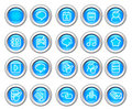 Silvero glossy icon set: Internet and Blogging Royalty Free Stock Photo