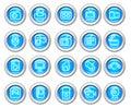 Silvero glossy icon set: Media Royalty Free Stock Photo