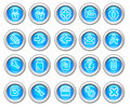 Silvero glossy icon set: Website and Internet #2 Royalty Free Stock Photo