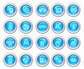 Silvero glossy icon set: Wireless  Device Royalty Free Stock Photo