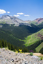 Silverton mountains view of in colorado Stock Photo
