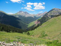 Silverton mountains a view of in colorado Stock Photography