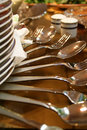 Silverware and dishware Royalty Free Stock Images
