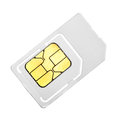 Sim card close up isolated over white background Stock Image
