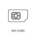 SIM card icon symbol flat style vector illustration