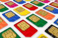 SIM cards Royalty Free Stock Photos