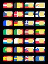 Sim cards represented as flags of euro countries european union Royalty Free Stock Photos