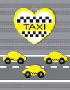 Simbol of taxi Stock Images