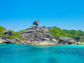 Similan island koh eight thailand beach view Stock Images