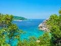 Similan island koh eight thailand beach view Royalty Free Stock Photography