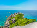 Similan island koh eight thailand beach view Stock Photography