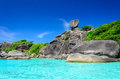 Similan island the sea and the sky at islands Royalty Free Stock Photography