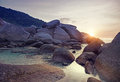 Similan island sunset phangnga province thailand Royalty Free Stock Photos