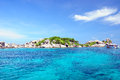 Similan islands paradise bay thailand Stock Photography